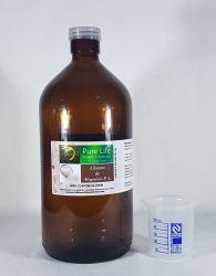 Garrafa de vidro escuro de 1 Lt + Dosador de 50ml- para Cloreto de Magnésio.