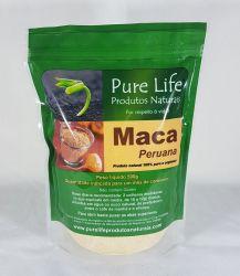 MACA PERUANA - 500g (Em pó 100% pura, orgânica e com laudo laboratorial)  EMBALAGEM STAMDUP