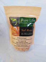 Sal Rosa do Himalaia - Embalagem com 1kg - produto 100% puro, grosso total sem qualquer refino