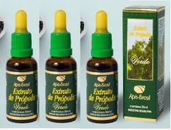 Extrato de própolis verde (17%) Kit com 3 frascos de 30ml cada (Excelente produto novo na Pure Life!)