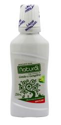 Enxaguante Bucal Natural Limão e Gengibre - com ingredientes orgânicos e naturais 250mL